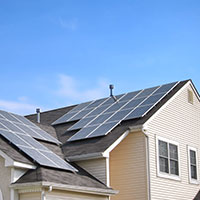 House roof solar panels